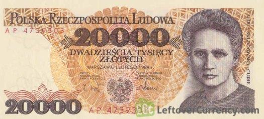 20000-old-polish-zloty-banknote-maria-sklodowska-curie-obverse